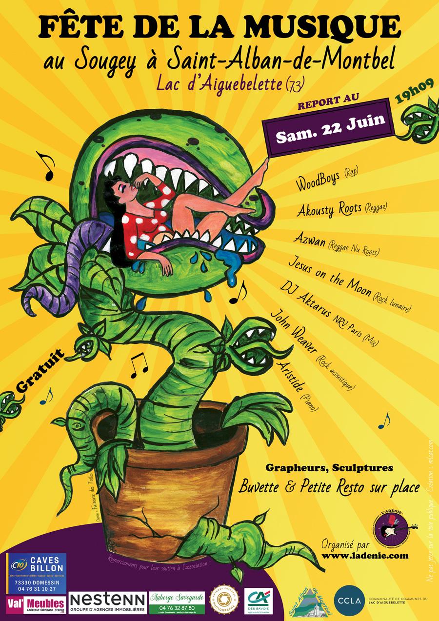 Fête de la musique samedi 22 juin au Sougey au Lac d'Aiguebelette, Saint-Alban de Montbel