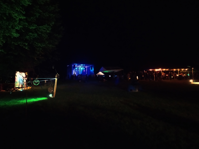 Le site en nocturne